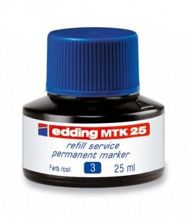 Tušas permanentiniams žymekliams EDDING, mėlynos spalvos