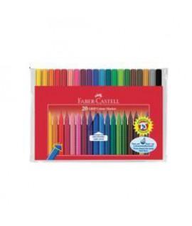 Flomasteriai FABER CASTELL GRIP, 20 spalvų