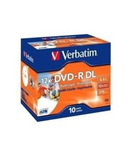 Kompaktinis diskas Verbatim DVD-R, 8,5 GB, 10 vnt.
