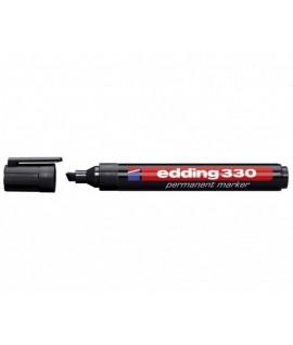 Permanentinis žymeklis EDDING 330, kirsta galvute, juodas
