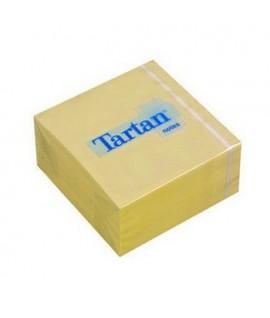 Lipnūs lapeliai TARTAN 76x76mm, geltoni, 400 lapelių