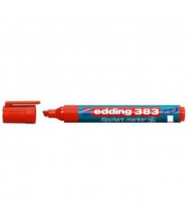 Žymeklis popieriui EDDING 383, kirstu galiuku, raudonas