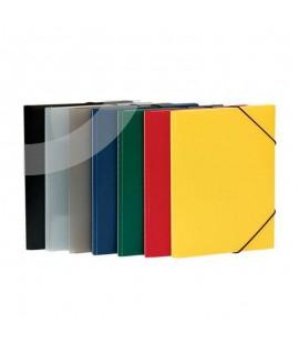 Aplankas - dėklas dokumentams MULTI-S, su guma, PP, A5, geltonas