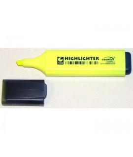 Teksto žymeklis HIGHLIGHTER , kirsta galvute, geltonas