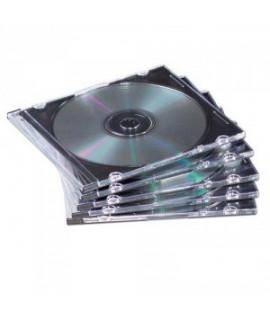 Dėklas 1 CD Slimline, plastikinis