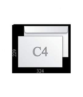 Vokas C4 baltas 229 x 324 mm. su nuplėšiama juostele