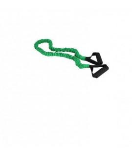 Elastinė mankštos juosta su rankenėle, žalia