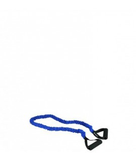 Elastinė mankštos juosta su rankenėle, mėlyna