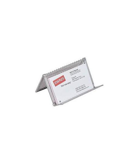 Vizitinių kortelių laikiklis ICO metalinis, sidabro spalvos