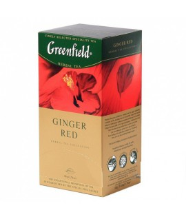 Arbata Greenfield Ginger Red, 25 pak. raudona