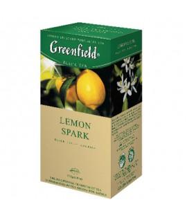 Arbata Greenfield Lemon spark, 25 pak. juoda