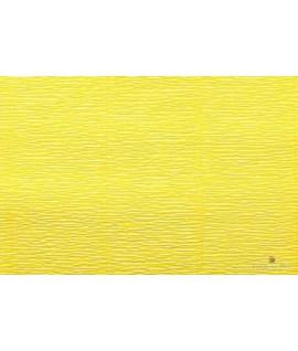 Popierius krepinis 50 cm x 2,5 m, 180 g/m2,geltonas, Italija
