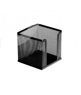 Dėžutė užrašų lapeliams ICO, 10 x 10 cm, juodos spalvos