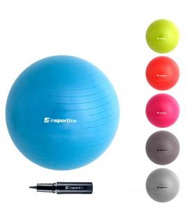 Gimnastikos kamuolys inSPORTline Comfort 65 cm., mėlynas