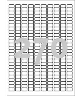 Etiketiniai lipdukai APLI 17,8 x 10 mm, A4, 270 lipdukų, 25 lapai