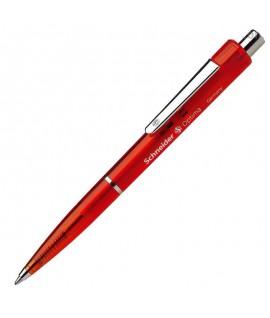 Automatinis rašiklis SCHNEIDER OPTIMA, raudonas peršviečiamas korpusas, raudonas rašalas