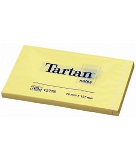 Lipnūs lapeliai TARTAN 127 x 76 mm 100l. geltoni