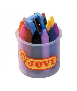 Vaškinės kreidelės JOVI su drožtuku, 16 spalvų