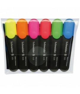 Teksto žymeklių rinkinys SCHNEIDER JOB,1-5 mm , 6 spalvų
