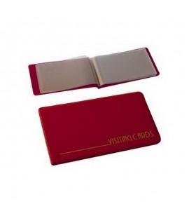 Vizitinių kortelių albumas 24 kortelėms, vyšninės spalvos