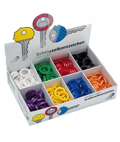 Žiedeliai raktams WEDO, įv. spalvų, 1 vnt.