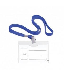 Kabinama vardinė kortelė su mėlynu dirželiu FORPUS