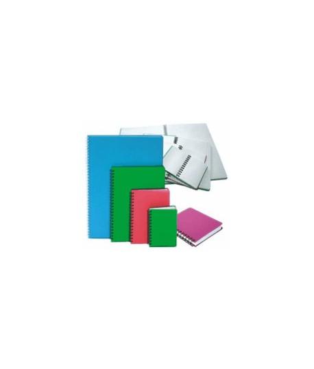 Knygelė užrašams A6, 96 lapai, plastikinis viršelis