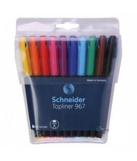 Rašiklių rinkinys SCHNEIDER TOPLINER 967, 10 spalvų