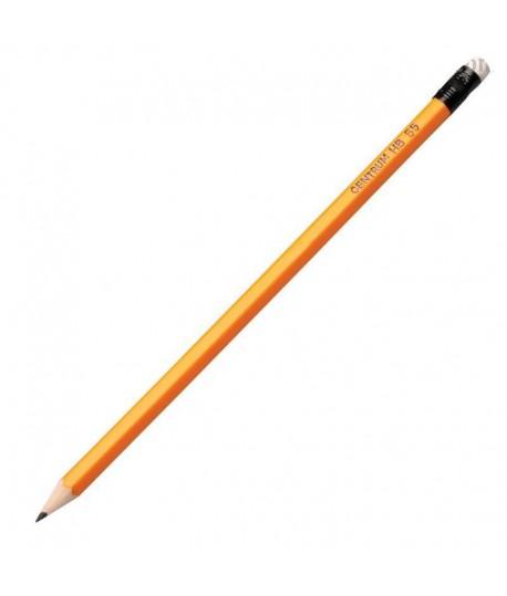 Pieštukas CENTRUM 55, HB, padrožtas, su trintuku