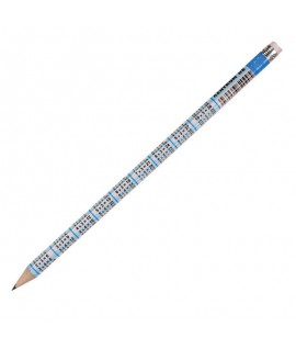 Pieštukas CENTRUM su daugybos lentele, HB, padrožtas, su trintuku