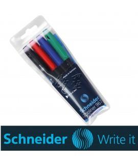 Rašiklių rinkinys SCHNEIDER TOPLINER 967, 4 spalvos