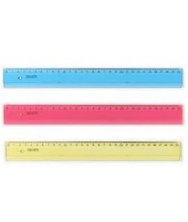 Liniuotė KOH-I-NOOR 30 cm, rožinė, skaidri, plastikinė