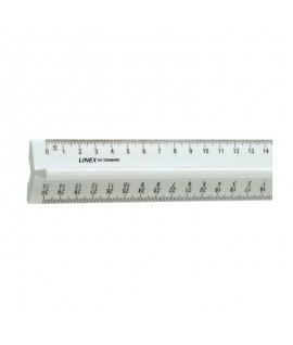 Liniuotė su laikikliu LINEX 431, 30 cm.