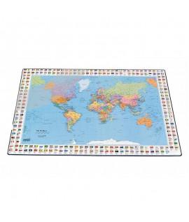 Stalo patiesalas Bantex Pasaulio žemėlapis, 44 x 63 cm.