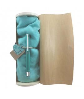 Plunksnakotis INOXCROM POEME FEEF, turkio sp. korpusas, mėlynas rašalas , medinėje dėžutėje
