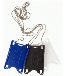 Dėklas su grandinėle vardinei magnetinei kortelei, mėlynas
