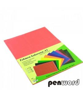 Kartonas Penword A3, dvipusis , geltonas, 10 lapų