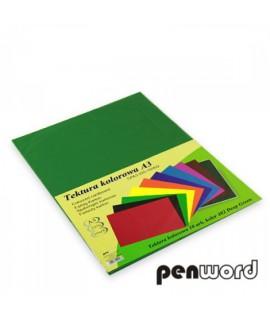 Kartonas Penword A3, dvipusis , raudonas , 10 lapų