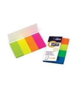 Plastikiniai indeksai- žymekliai FORPUS 42027, 4 spalvos