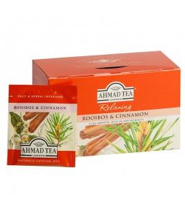 Žolelių arbata AHMAD ROOIBOS & CINNAMON TEA , 20 vnt. su siūlu
