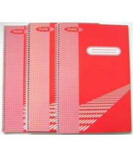 Sąsiuvinis su spirale šone, A4, 80 lapų, langeliais