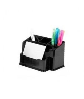 Pieštukinė FORPUS 6 skyrių, juodo plastiko