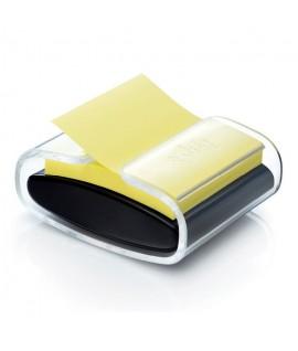 Lipnių lapelių dėklas POST-IT Z-notes PRO, juodos spalvos/skaidri