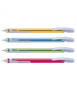 Automatinis pieštukas PELICAN PUSH, 0,5 mm, įv. spalvų korpusai