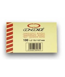 Lipnūs lapeliai CONCORDE 75 x 102 mm, 100 lapelių