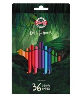 Spalvoti pieštukai KOH-I-NOOR DINO 3595, 36 spalvos