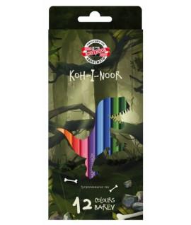 Spalvoti pieštukai KOH-I-NOOR DINO 3592, 12spalvų