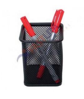 Pieštukinė perforuoto metalo stačiakampė, juoda