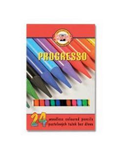 Spalvoti pieštukai KOH-I-NOOR PROGRESSO, 24 spalvos