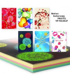 Bloknotas PENWORD, B7, 130 x 90 mm, pastelinių spalvų lapai, 80 lapų